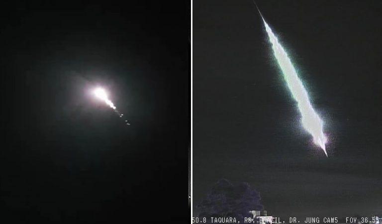Dos meteoros cruzan el cielo de la misma región de Brasil en días consecutivos