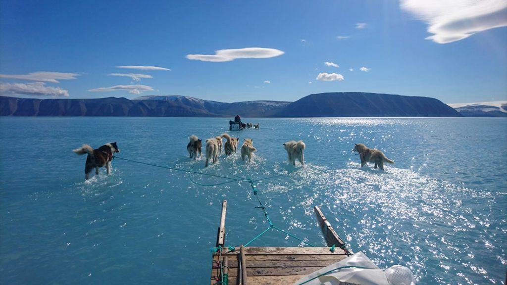 Deshielo extremo en Groenlandia
