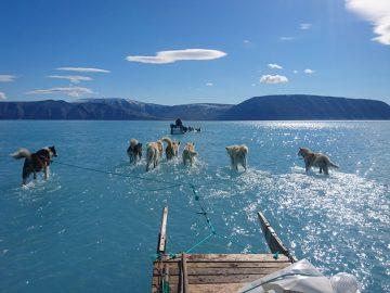 Groelandia aumentó su temperatura 40 grados en esta semana y esta foto muestra cuán rápido se derrite el hielo