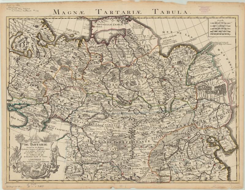 Antiguo mapa de Tartaria. G. de L'Isle - Covens & Mortier, 1730. ¿Una exageración de la época? Muchos estudiosos así lo piensan