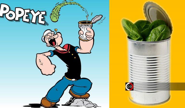 ¡Popeye tenía razón! Exigen prohibición en atletas de un químico obtenido de la espinaca por tener «efecto esteroide»