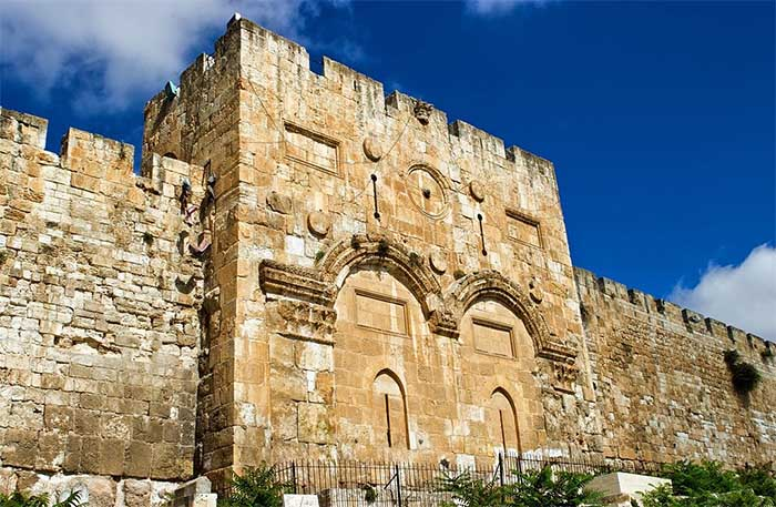 La Puerta Dorada en el Monte del Templo, Jerusalén
