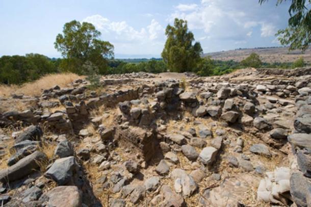 Ruinas en Bethsaida donde se ha encontrado la Puerta de la Ciudad