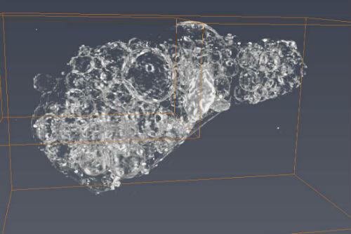 Una imagen tridimensional que permitió a los investigadores descubrir la distribución de elementos dentro de la muestra