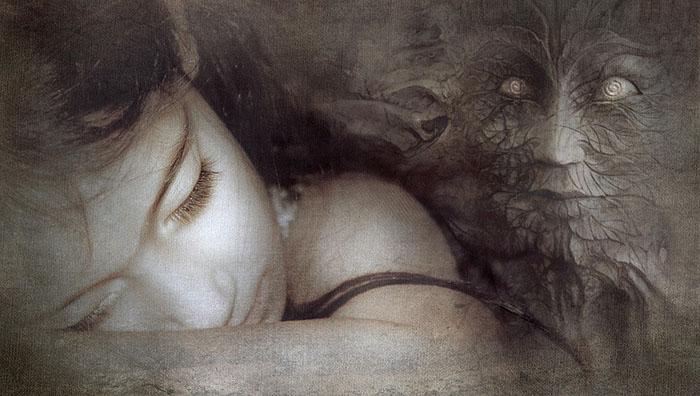 Ilustración de una entidad que aparece a la hora de soñar
