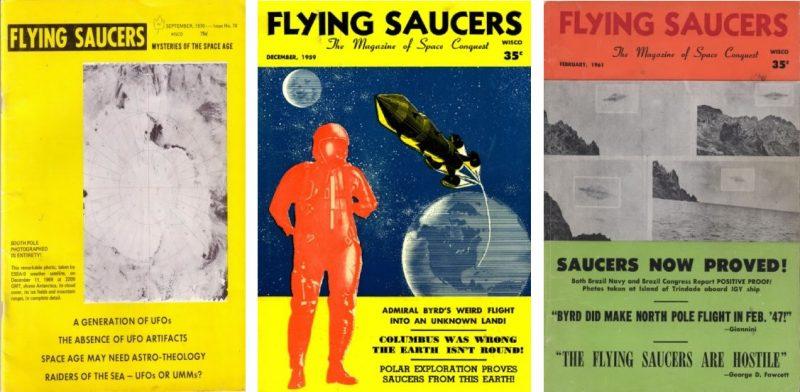 Flying Saucers, legendario magazine dirigido por Ray Palmer, que alimentó el mito de Byrd en varias de sus publicaciones