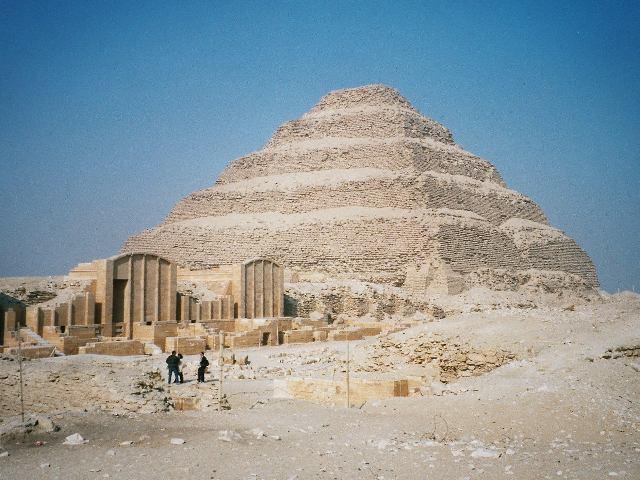 Pirámide de Zoser, en Saqqara