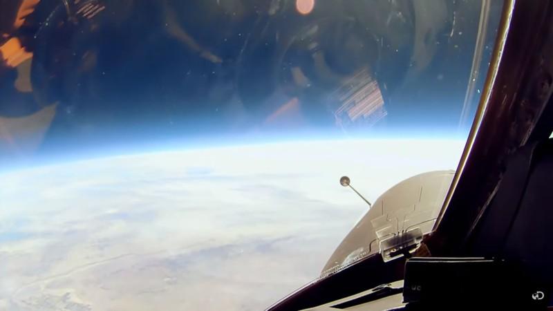 Vista de la curvatura de la Tierra desde la ventana del avión U2