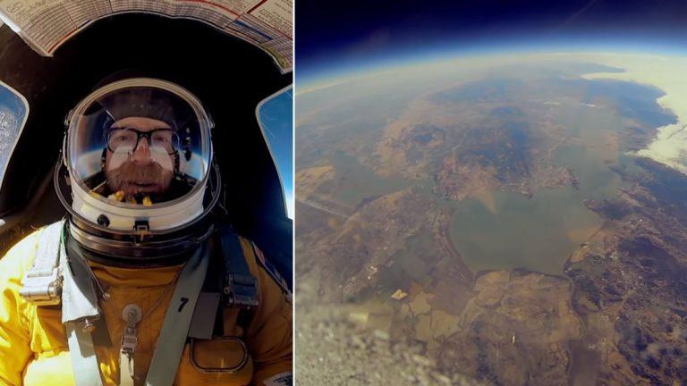 Adam Savage, de «Cazadores de Mitos» ¡viaja al borde del espacio!