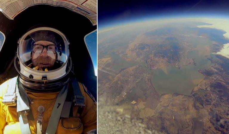 Adam Savage de «Cazadores de Mitos» ¡viaja al borde del espacio!