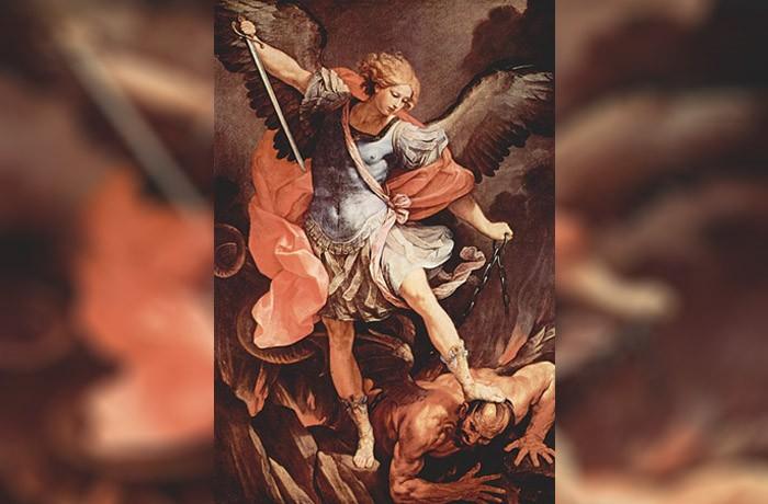 Arcángel Miguel y el Diablo, pintura de Guido Reni