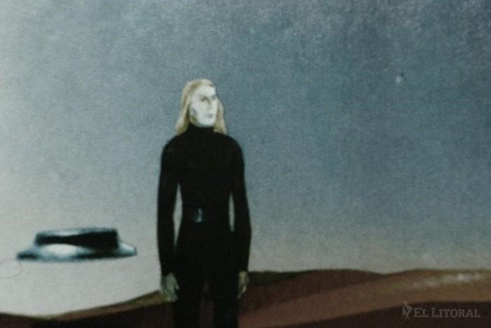 Imagen de los seres que habrían contactado a Parravicini, que se definieron como de Venus