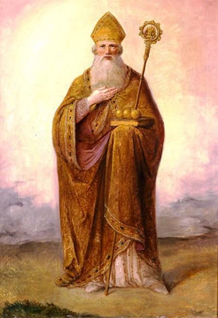 Retrato de San Nicolás de Bari, el santo turco, que combatió los cultos paganos