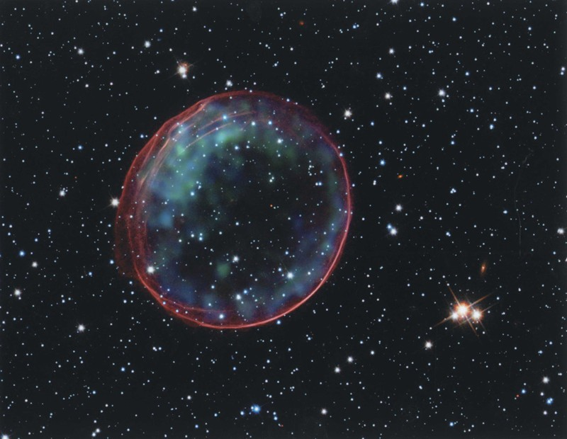 Burbuja fotografiada por el Telescopio Espacial Hubble