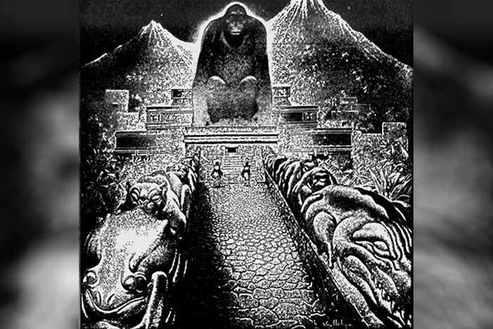 Ilustración de Virgil Finlay sobre la ciudad perdida, 1940