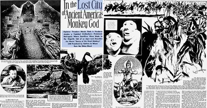 Artículo de Theodore Morde publicado el 22 de septiembre de 1940 en The American Weekly