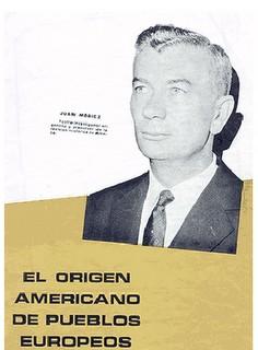 Su revolucionario trabajo de 1967, «El Origen Americano de Pueblos Europeos»