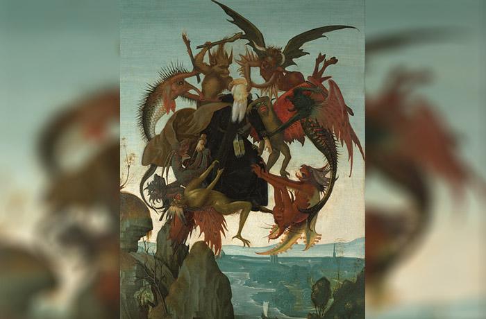 El tormento de San Antonio, pintura de Miguel Ángel