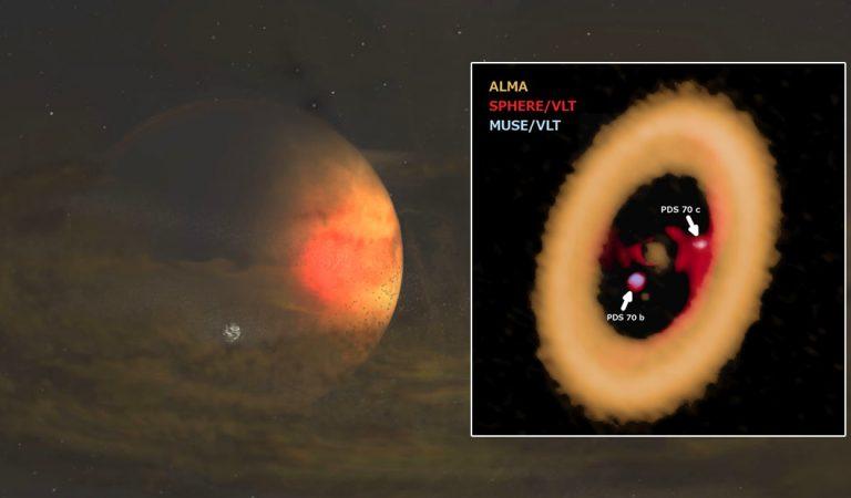 Detectan una luna formándose de un anillo alrededor de un planeta distante