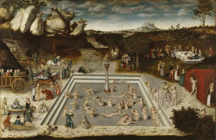 Fuente de la eterna juventud, pintura de Lucas Cranach el Viejo, 1546