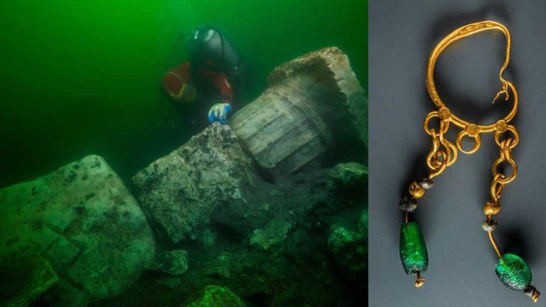 Hallan un antiguo templo griego y barcos hundidos en la «Atlántida egipcia» Heracleion