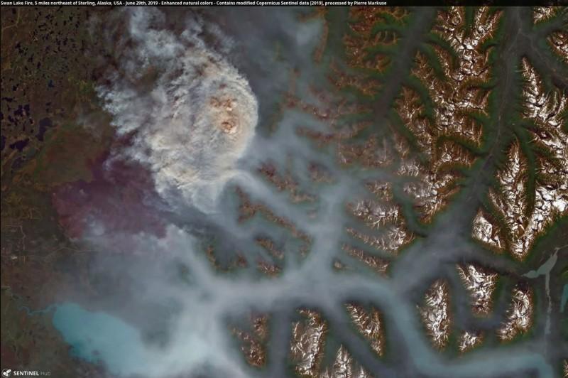 Incendios forestales devastan el Círculo Polar Ártico, causados por las altas temperaturas