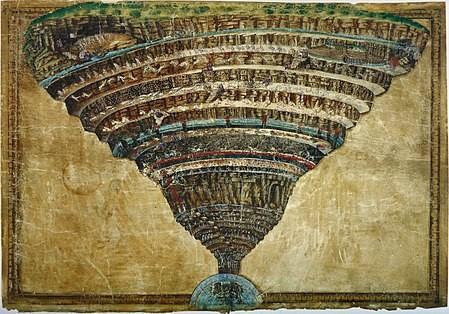 El Infierno visto por Sandro Botticelli (ca. 1480–1495)