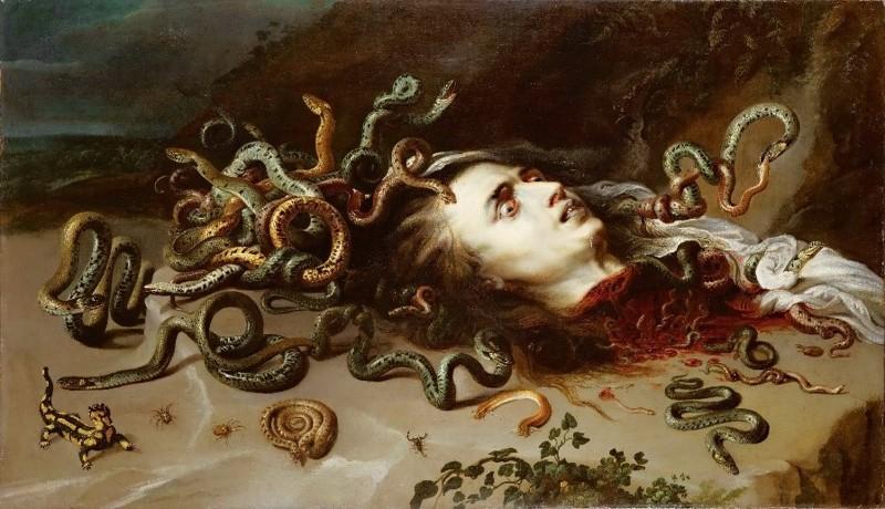 Por su naturaleza enigmática, la serpiente ha inspirado el temor desde la antigüedad. Aquí representada por Rubens en su obra «Medusa» (1618)