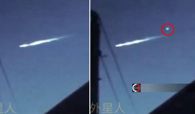 Meteoro «dispara» un orbe luminoso sobre las Pirámides de Egipto