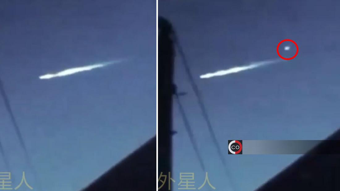 Posible meteoro «dispara» otro objeto luminoso sobre las Pirámides de Egipto