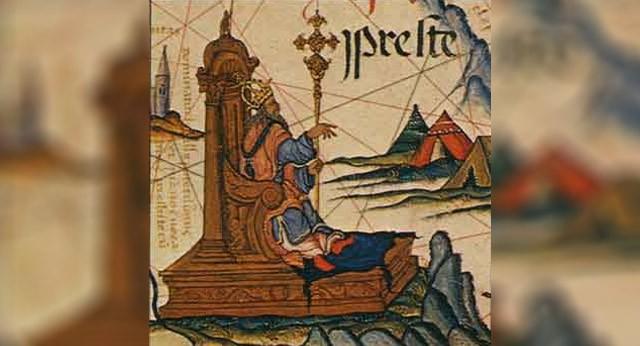 Juan Preste como el Emperador de Etiopía, atlas de 1558