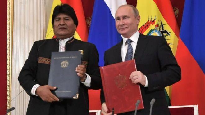 Evo Morales visitó a Vladimir Putin en Moscú