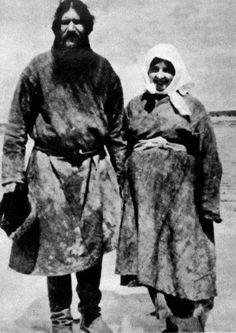 Retrato de Rasputin y su mujer Praskovia, Pokrovskoye Siberia