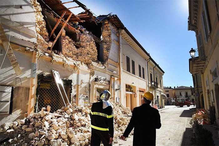 Estragos de un terremoto