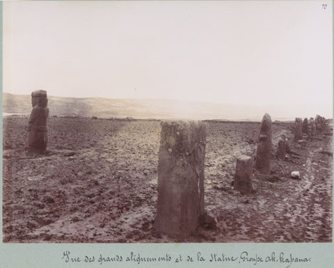 Fotograma de Tiahuanaco, registrado por la Misión Científica Francesa, que exploró las ruinas en 1903