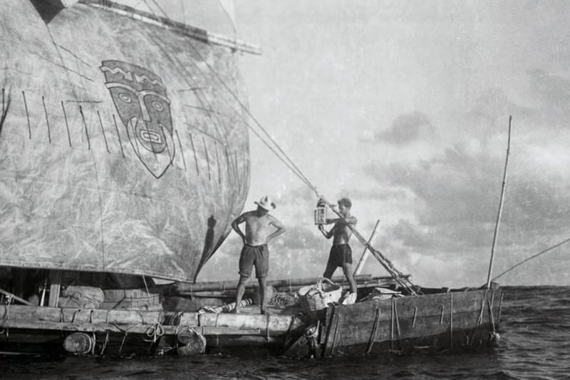 Fotograma, de la famosa expedición Kon Tiki, Thor Heyerdalh, 1947