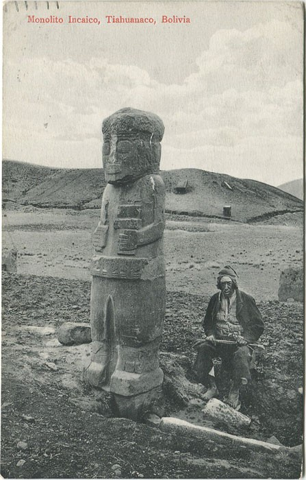 Una postal de Tiahuanaco, datada de 1910