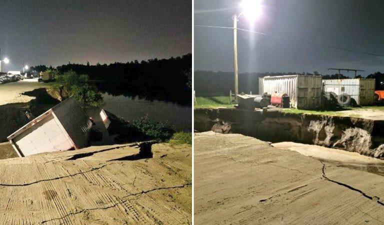 Un agujero de 30 metros se abre en Florida y se «traga» varios camiones