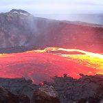 Un lago de lava se ha formado en una isla subantártica
