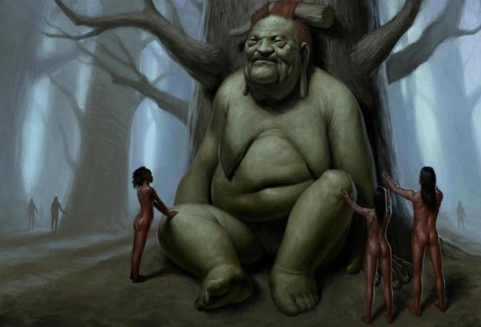 El Batibat es un personaje mítico de Filipinas. Se dice que cobra venganza en los hombres que talan sus árboles