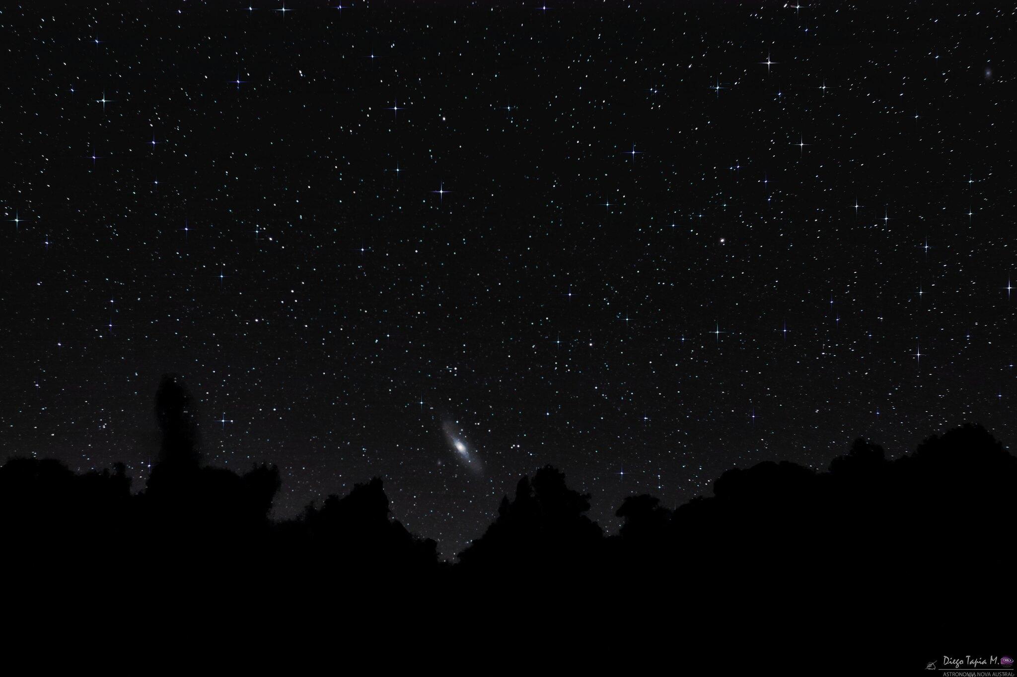 La Galaxia Andrómeda se verá más grande que la Luna llena desde finales de agosto