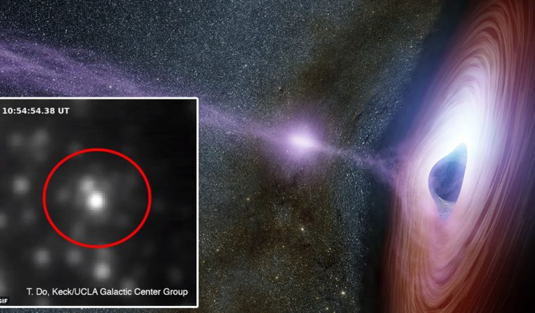 El agujero negro supermasivo de nuestra galaxia ha lanzado una llamarada misteriosamente brillante