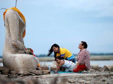 Graves sequías en Tailandia revelan un templo perdido hace mucho tiempo