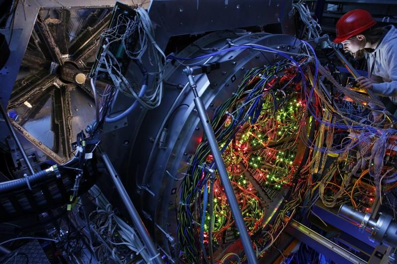 Detector HADES con cámara para el efecto Cherenkov
