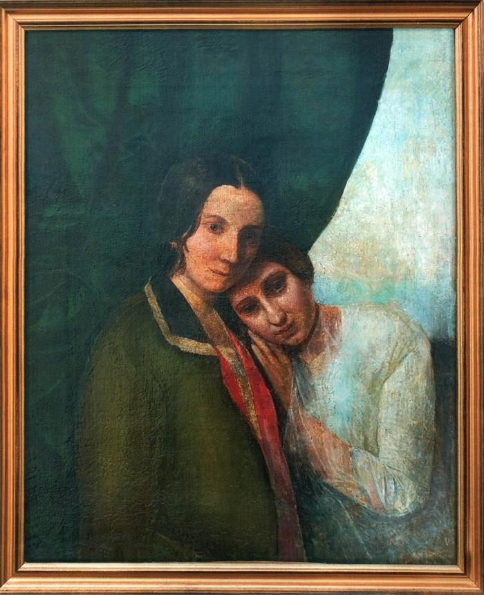 Una pintura de Blavatsky y su madre, titulada «Dos Helens (Helena Hahn y Helena Blavatsky)» 1844-1845