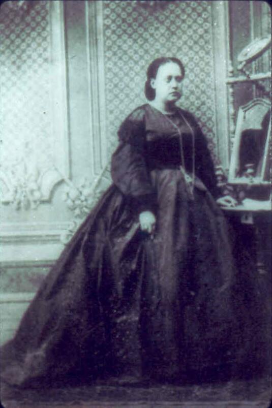 Una joven Helena Hahn, retrato de 1860
