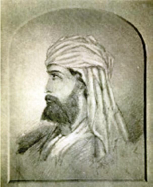 Retrato realizado por Monsieur Harrisse, en la «Lamasería» en Nueva York
