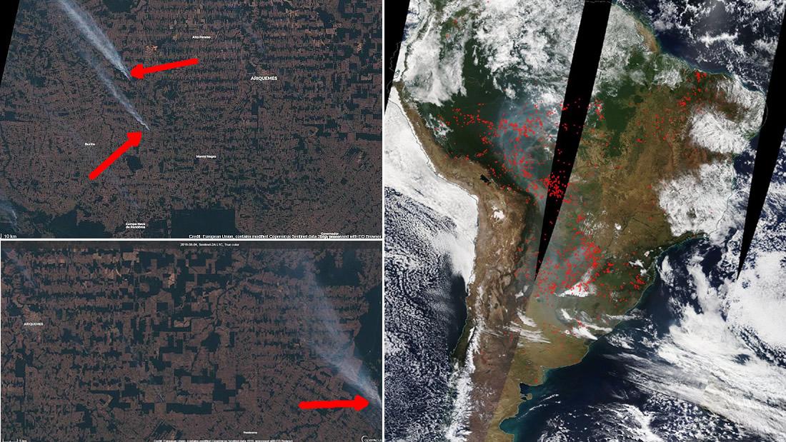 Incendios devoran la Amazonía en Brasil generando columnas de humor gigantescas, revelan satélites