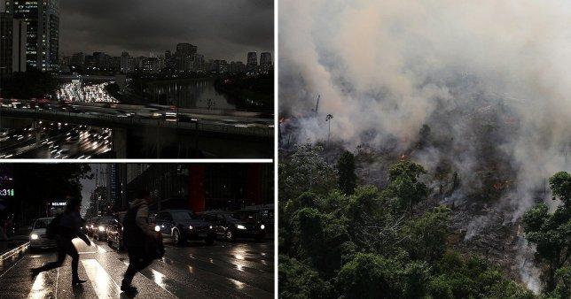 Diversas imágenes muestran el terrible escenario causado por los incendios forestales en la ciudad de Sao Paulo