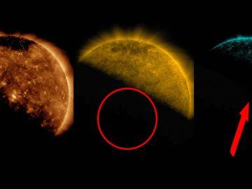 Vídeo muestra que «algo enorme» bloqueó al Sol